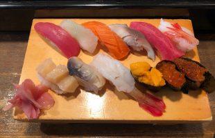 カウンター3席、立ち食い席3席の小さなお寿司屋さん「たけ江鮨」