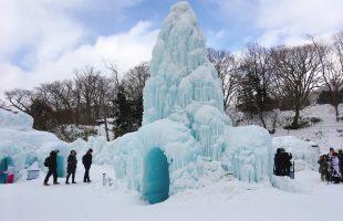 支笏湖ブルーの輝きが作り出すアイスオブジェの祭典 ~氷濤まつり~